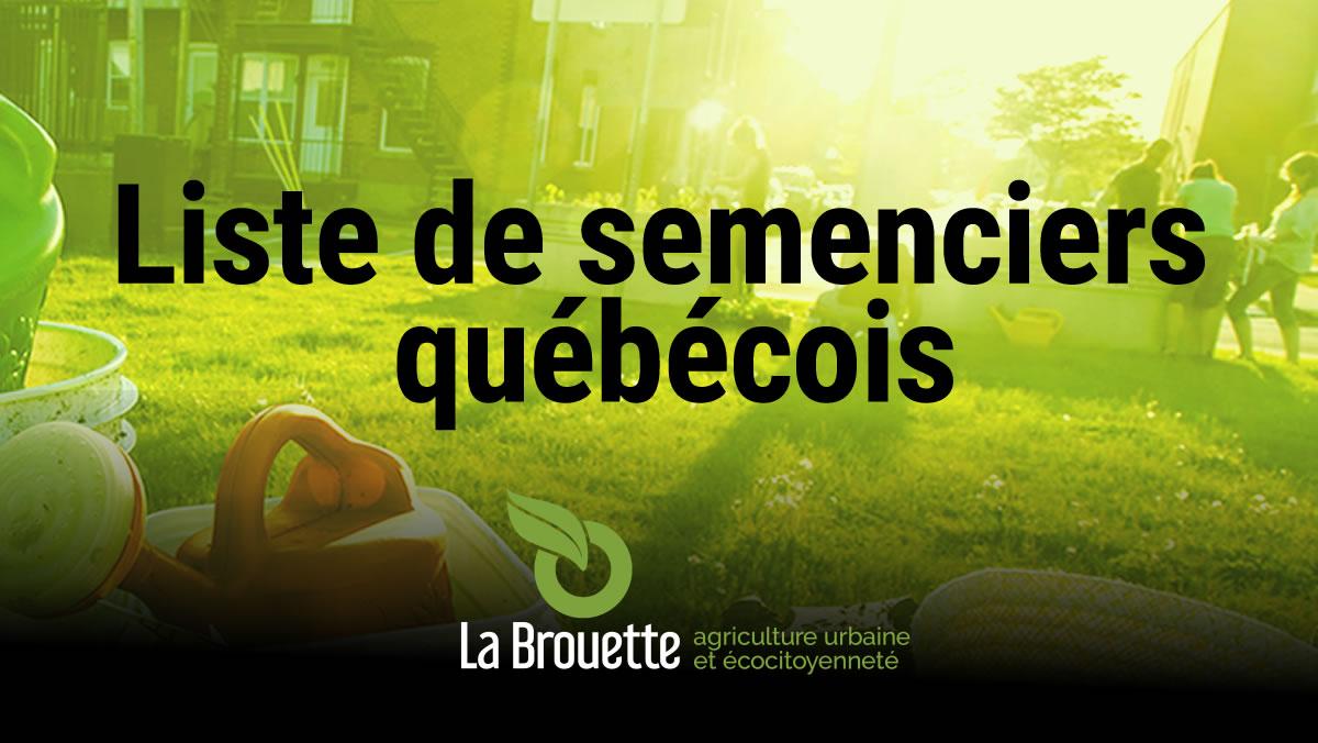 Liste de semenciers québécois